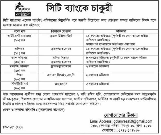 City Bank Limited Job Circular 2020