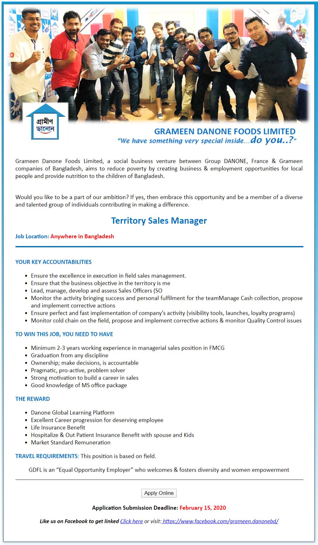 Grameen Danone Foods Ltd Job Circular 2020