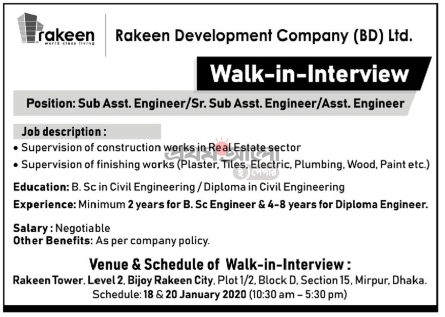 Rakeen Development Company (BD) Limited Job Circular 202