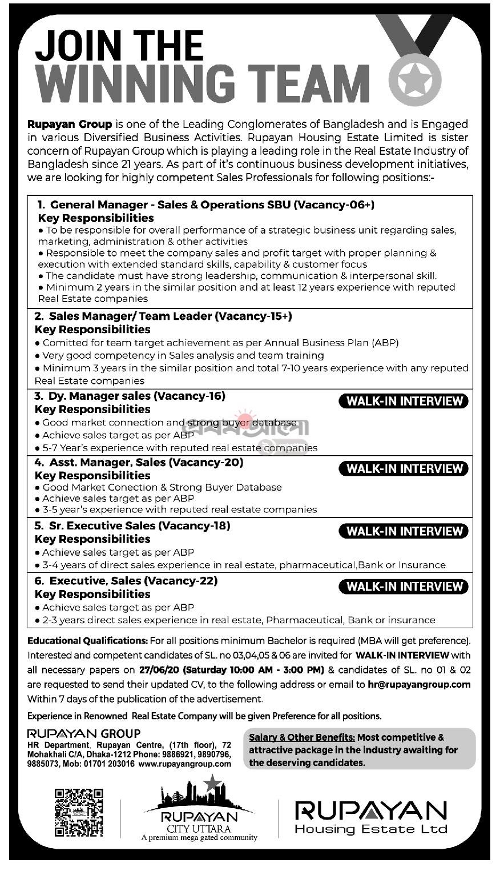 Rupayan Housing Estate Ltd Job Circular 2020