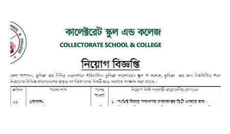 Collectorate School and College Job Circular 2020