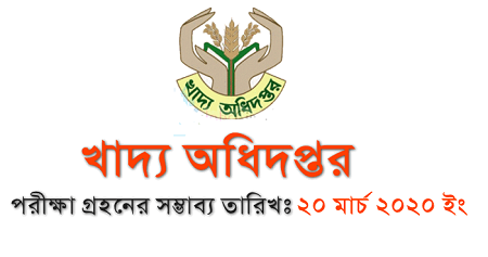 Directorate General of Food Exam Notice 2020