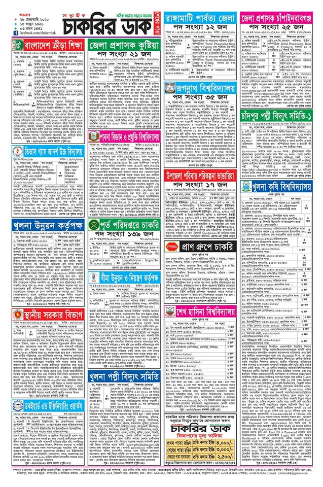 Chakrir Dak Weekly Jobs Newspaper 28 February 2020