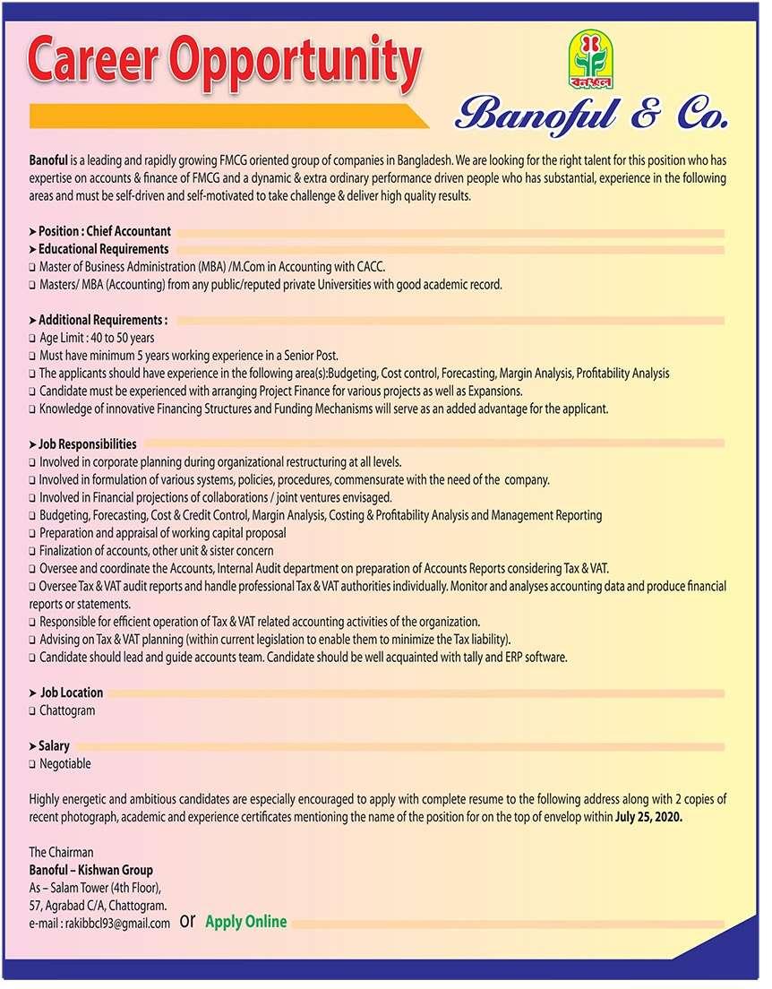 Banoful Group Job Circular 2020