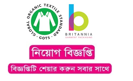 Britannia Garment Packaging Ltd Job Circular 2020