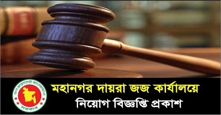 Metropolitan Sessions Judge Court Job Circular 2020