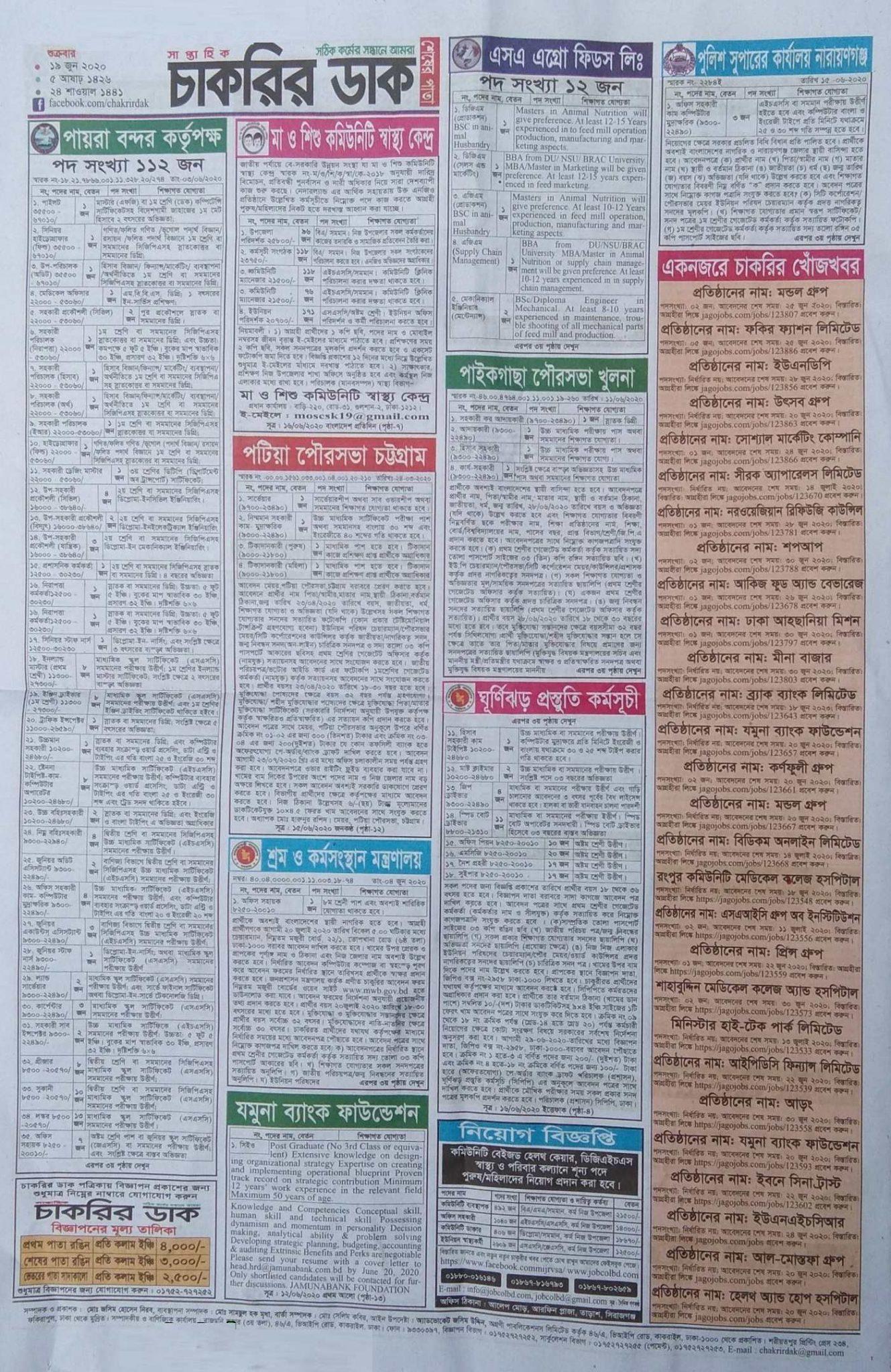 Chakrir Dak Weekly Jobs Newspaper 20 June 20