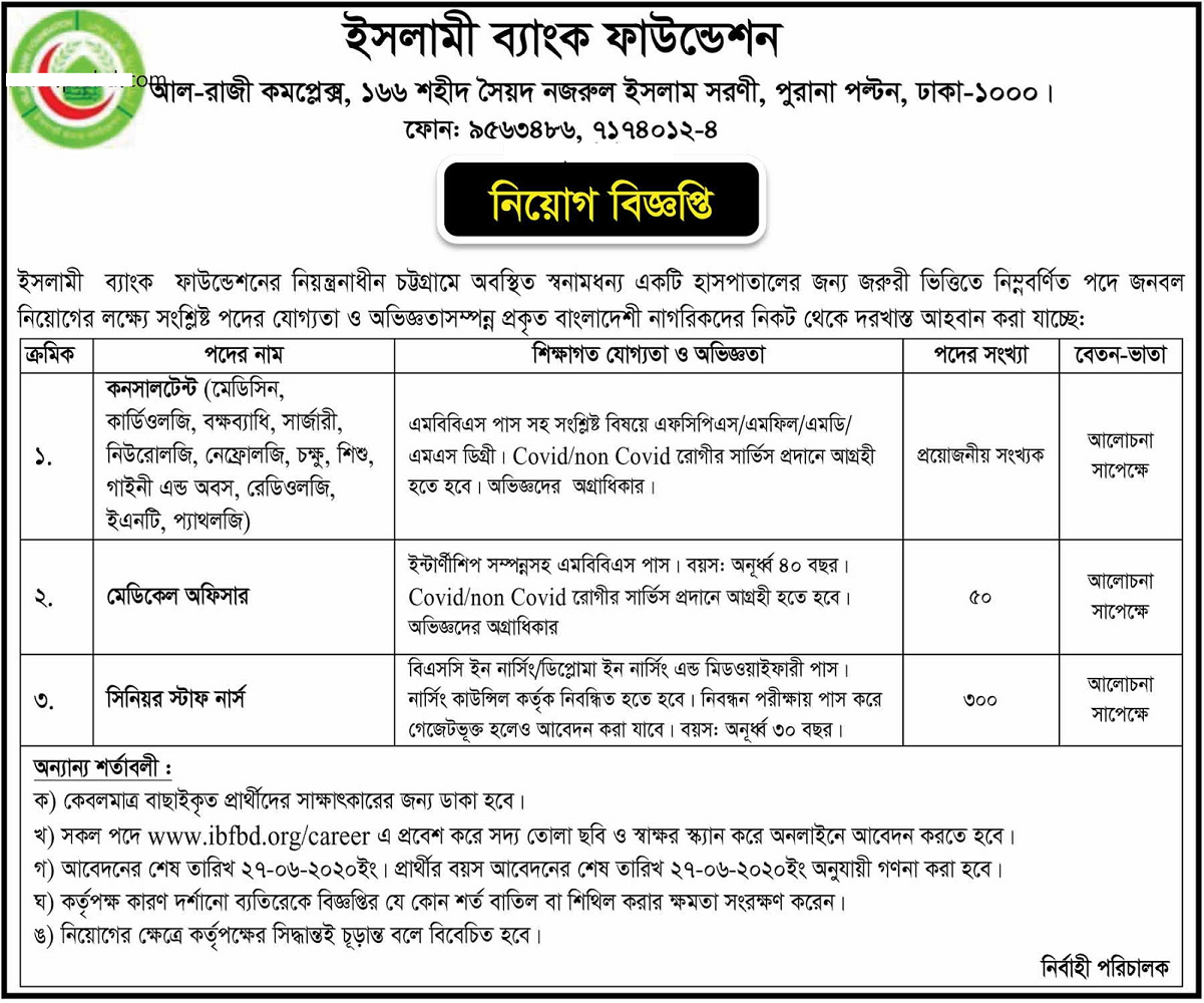 Islami Bank Foundation Job Circular 2020